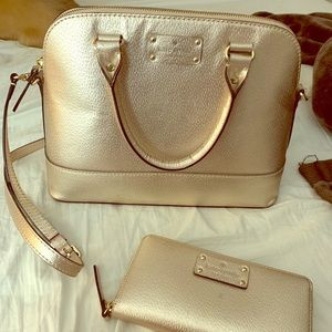 Barely used Kate Spade purse with wallet